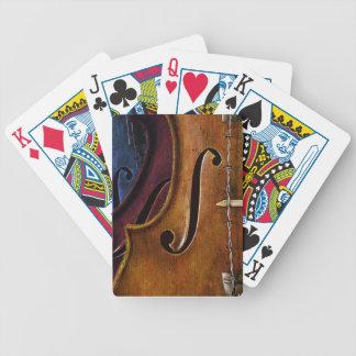 Naipes de la composición del violín barajas
