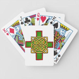 Naipes de la cruz céltica baraja de cartas
