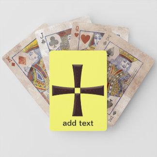 Naipes de la cruz del hierro del mosaico cartas de juego