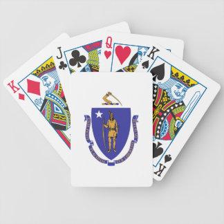Naipes de la cubierta con la bandera de baraja de cartas