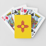 Naipes de la cubierta con la bandera de New México Barajas De Cartas