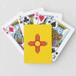 Naipes de la cubierta con la bandera de New México Baraja
