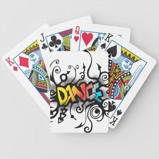 Naipes de la danza baraja de cartas