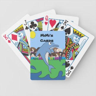 Naipes de la demostración del delfín de los niños baraja cartas de poker