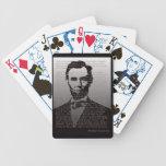 Naipes de la dirección de Abraham Lincoln Gettysbu Barajas De Cartas