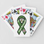Naipes de la donación de órganos barajas de cartas