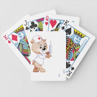 Naipes de la enfermera del oso de peluche baraja de cartas