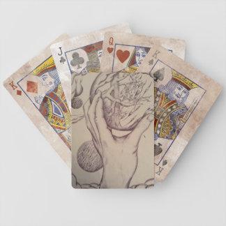Naipes de la esfera baraja cartas de poker