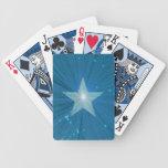 Naipes de la estrella azul baraja de cartas