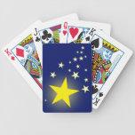 Naipes de la estrella fugaz baraja cartas de poker