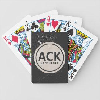 Naipes de la etiqueta de la playa del ACK Nantucke Cartas De Juego