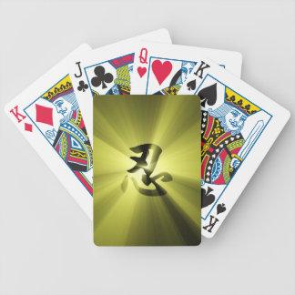 Naipes de la explosión de la estrella del oro del baraja de cartas