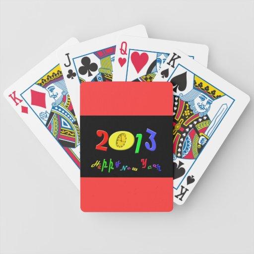 Naipes de la Feliz Año Nuevo Cartas De Juego