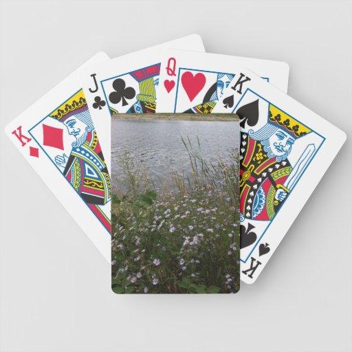 Naipes de la flor baraja cartas de poker