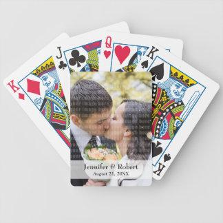 Naipes de la foto baraja de cartas
