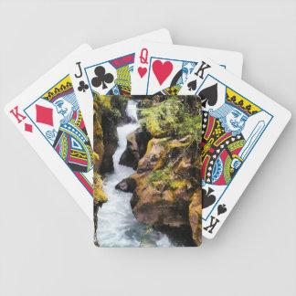 Naipes de la garganta de la avalancha baraja de cartas