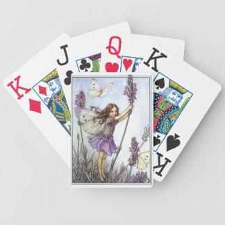 Naipes de la hada de la lavanda barajas de cartas