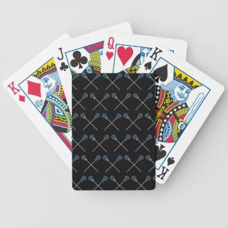 Naipes de la idea del regalo del jugador de LaCros Baraja De Cartas