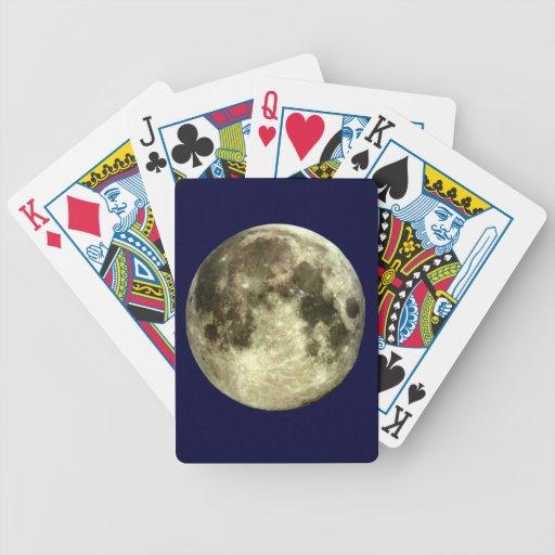 Naipes de la Luna Llena Baraja Cartas De Poker