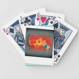 Naipes de la magia del duende baraja de cartas