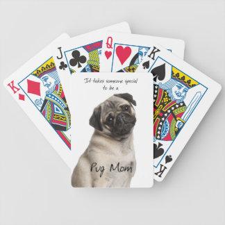 Naipes de la mamá del barro amasado cartas de juego