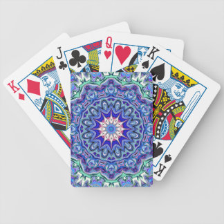 Naipes de la mandala del arándano y de la menta baraja de cartas