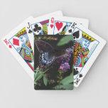 Naipes de la mariposa cartas de juego