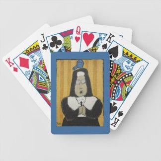Naipes de la monja baraja de cartas