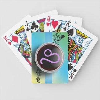 Naipes de la muestra de Leo Baraja Cartas De Poker
