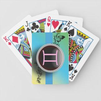 Naipes de la muestra de los géminis barajas de cartas