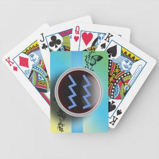 Naipes de la muestra del acuario baraja cartas de poker