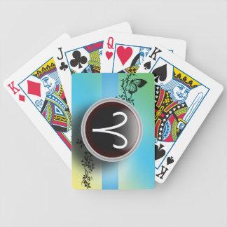Naipes de la muestra del aries cartas de juego