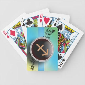 Naipes de la muestra del sagitario barajas de cartas
