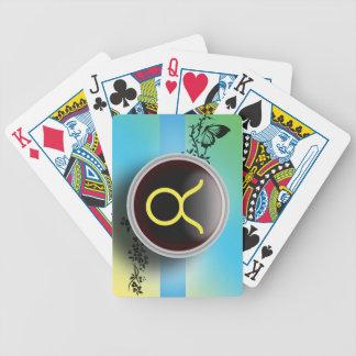 Naipes de la muestra del tauro baraja cartas de poker