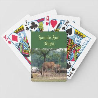 Naipes de la noche de la diversión de la familia, baraja cartas de poker