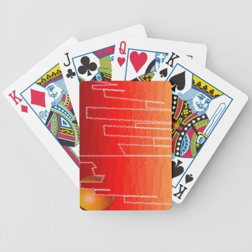 Naipes de la noche del escarlata cartas de juego