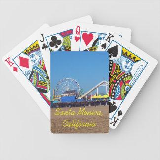 Naipes de la noria del embarcadero de la playa de  baraja de cartas