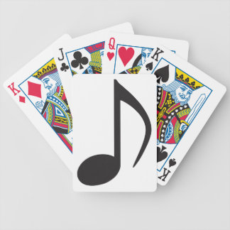 Naipes de la nota de la música baraja de cartas