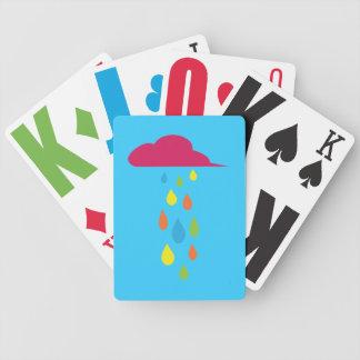 Naipes de la nube de lluvia de los niños baraja de cartas