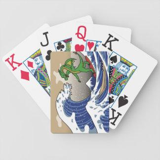 Naipes de la onda barajas de cartas