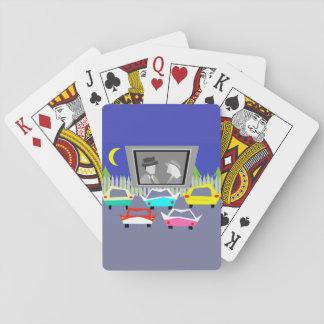 Naipes de la película del autocinema de la pequeña barajas de cartas