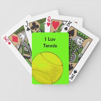 Naipes de la pelota de tenis baraja cartas de poker