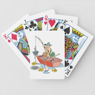 Naipes de la pesca del hombre baraja de cartas