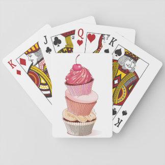 Naipes de la pila de la magdalena barajas de cartas