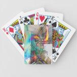 Naipes de la plantilla de la tarjeta de la bicicle baraja cartas de poker