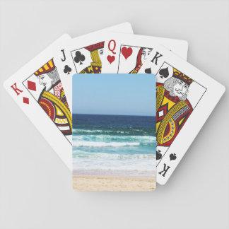 Naipes de la playa barajas de cartas