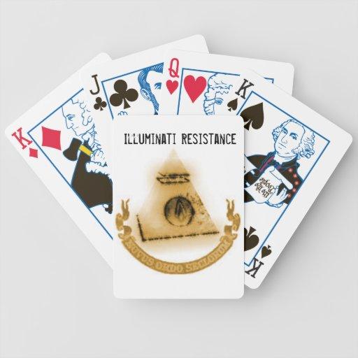 Naipes de la resistencia de Illuminati Barajas