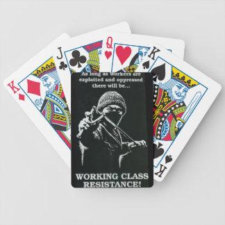 naipes de la resistencia de la clase obrera barajas de cartas