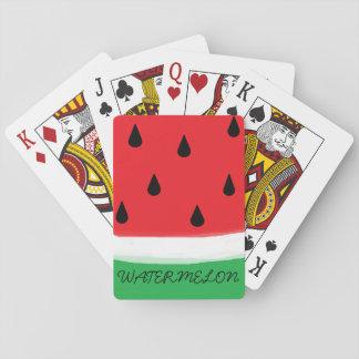 Naipes de la sandía barajas de cartas