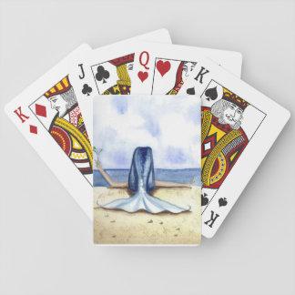 Naipes de la sirena de Margarita de la playa de Barajas De Cartas